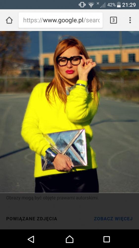 Żółty sweter angora H&M...