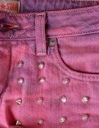 Różowe szorty DIY z ćwiekami Big Star