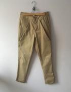 Miodowe eleganckie spodnie