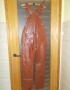 Spodnie skórzane z szelkami