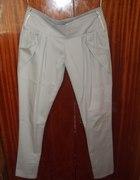 eleganckie szare spodnie z zipami
