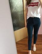 H&M spodnie rurki high waist 40 L wysoki stan