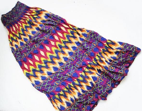 ocean club długa sukienka maxi wzorzysta boho rozmiar 40
