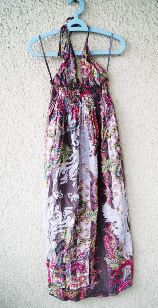 new look długa sukienka maxi wzorzysta boho rozmiar 40