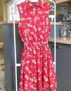 Miss Real London sukienka floral czerwona retro