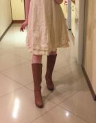 Oryginalna sukienka z falbankami M L