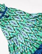 debenhams długa letnia wzorzysta sukienka maxi rozmiar 38