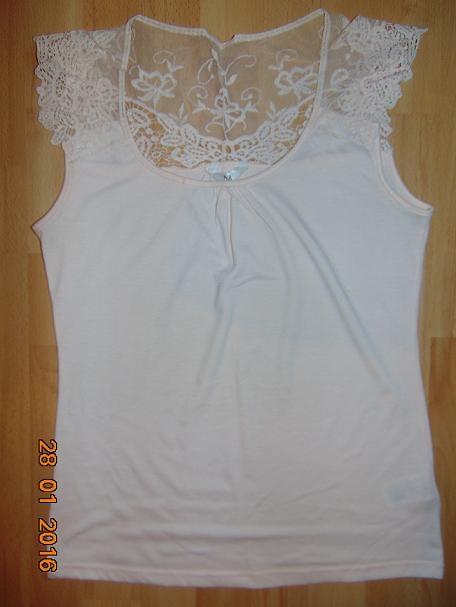 Bluzki bluzka koronka nude M