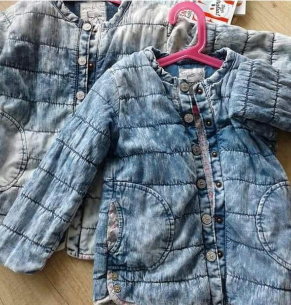 Dziecięce Kurtka pikowana jeansowa