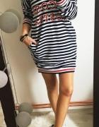 Sukienka Damska w paski marynarskie M