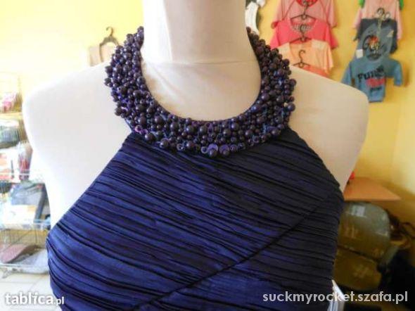 3a8f075a50 Suknie i sukienki Sukienka fiolet r 36 S na szyje studniówka wesele