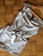 H&M przepiękna sukienka dekolt pagony ozdobne koraliki XS S