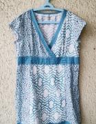 fat face letnia wzorzysta bawełniana sukienka rozmiar 46