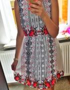 Sukienka letnia w kwiatki rozmiar M