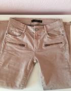 Mango spodnie rurki łososiowe marmurki 34 XS nowe
