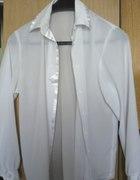 Biała koszula bluzka mgiełka vintage M 38