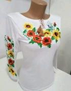 Bluzka Flower biała