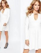 millie mackintosh sukienka biała rozkloszowana z d