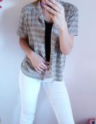 Czarno biała koszula w idealnym stanie