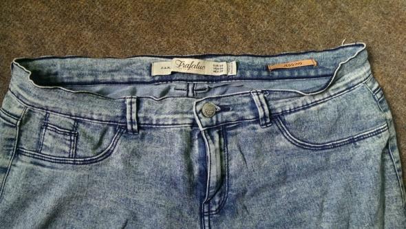 Spodnie rurki jegginsy marmurkowe zara