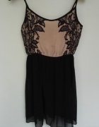 Sukienka STRADIVARIUS czarny nude 38