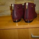 Tanio nowe modne bordowe botki
