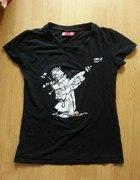 Czarny T Shirt Cropp Town S...