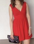 Sukienka czerwona h&m xs