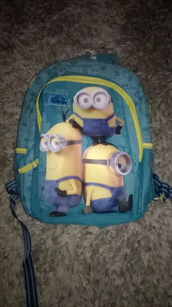 Plecak szkolny Minionki niebieski dla dziecka