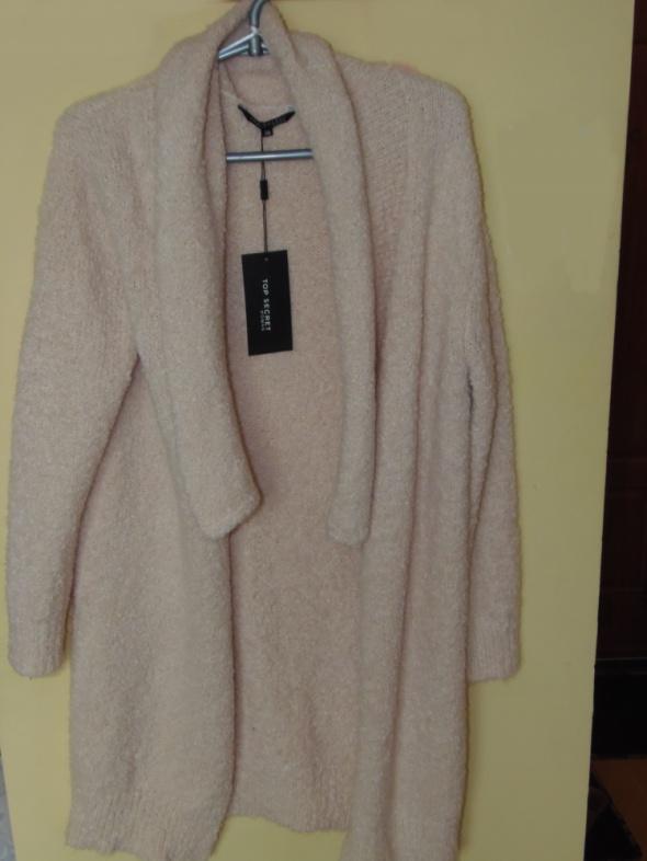 Długi kardigan sweter z dzianiny Top Secret 36...