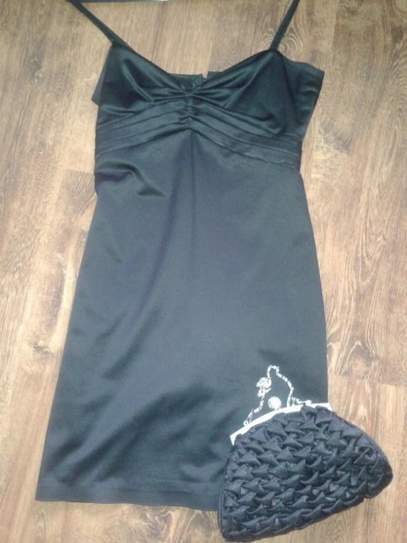 Suknie i sukienki Satynowa sukienka wieczorowa 34 36
