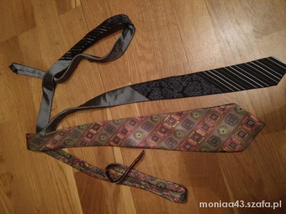 2 jedwabne krawaty