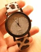 Piękny zegarek NOWY cętki
