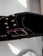 Czarne buty creepersy w ćwieki 37...