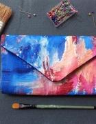 Torebka kopertówka HANDMADE ręcznie malowana...