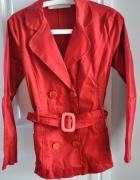 CZERWONA klasyczna kurtka rozmiar S