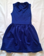 Sukienka rozkloszowana kobalt 36 38...