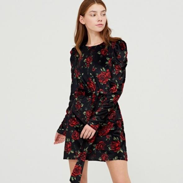 Sukienka HOUSE bufki róże...