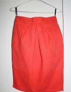 Spódnica pomarańczowa z kieszeniami...