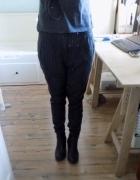 Spodnie w paski z obniżonym krokiem M L new yorker...