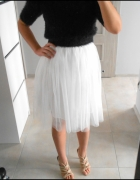 Romwe nowa tiulowa spódnica midi biała tutu tiul