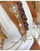Mega wisior na bikini ubranie siwiec kamienie