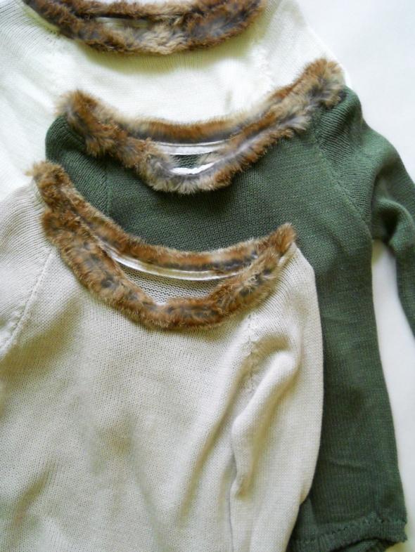 cudo sweter z futerkiem