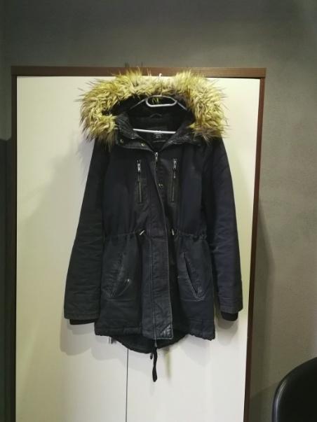 65e19e7da25f Odzież wierzchnia Granatowa parka C A rozmiar 42 kurtka damska zimowa