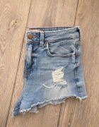 Jeansowe szorty Bershka podwyższony stan xs 34