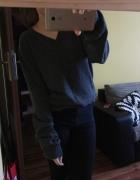 Szary sweter h&m wełna owcza ciepły M...