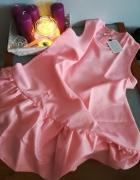 Różowa sukienka trapez falbana XS L nowa...