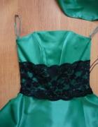 Zielona sukienka na wesele bal studniówkę...