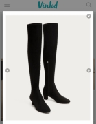 Szukam poszukuje Zara muszkieterki kozaki za kolano XXL 38 czar...