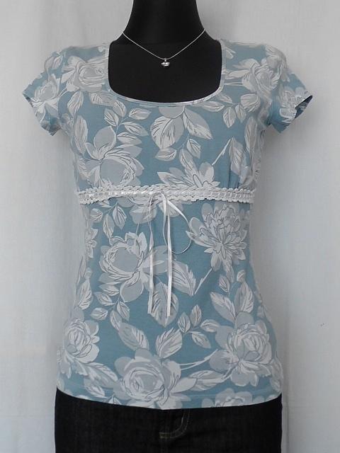 NOWA pudrowa bluzka pastelowa w kwiaty NEXT S M...